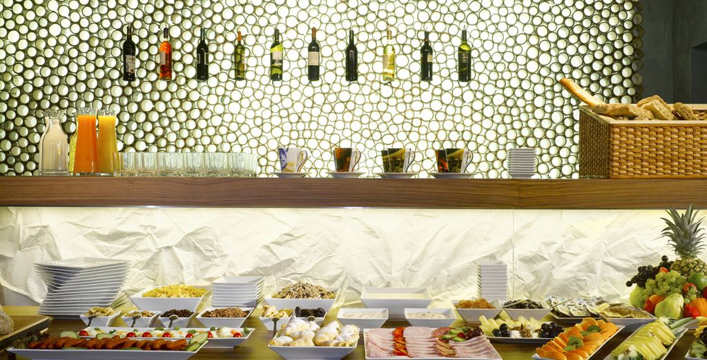 Wake up to an extensive buffet breakfast every morning