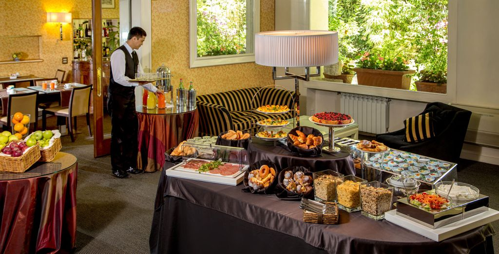 Wake up to a tantalising buffet breakfast every morning