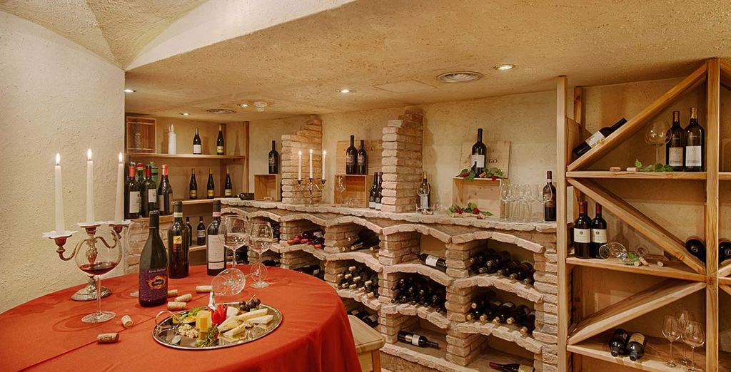 And indulge your tastebuds with fine wines from the cellar