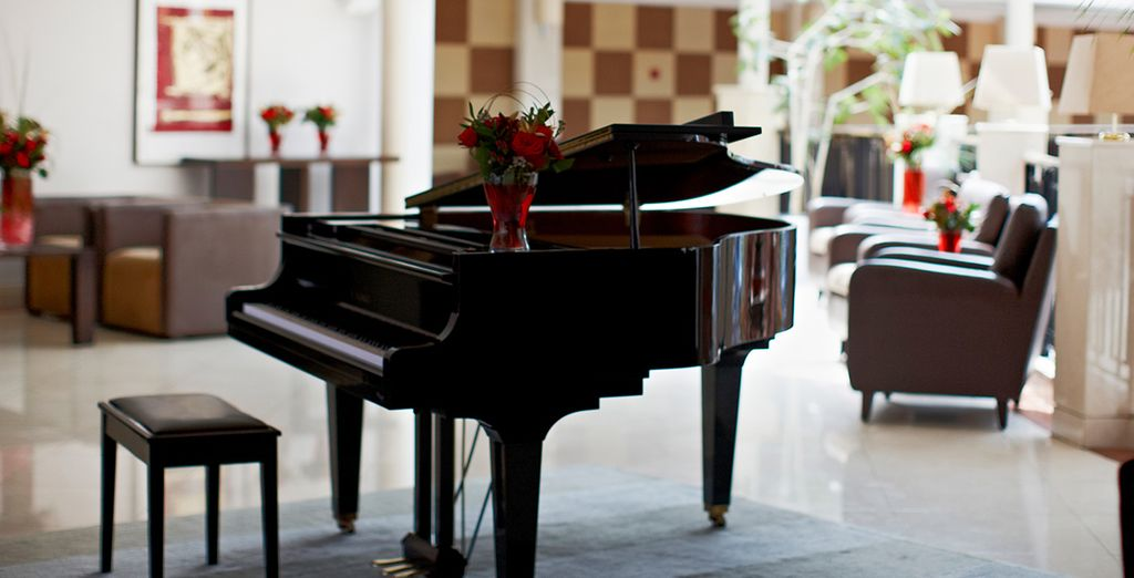 Fantastic touches such as a grand piano can be found in abundance
