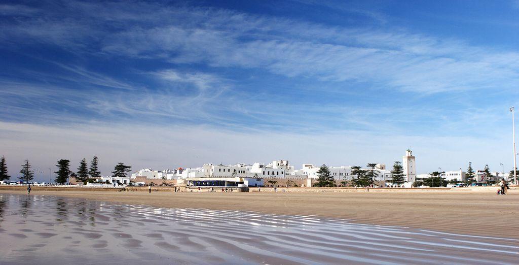 And the pretty beach