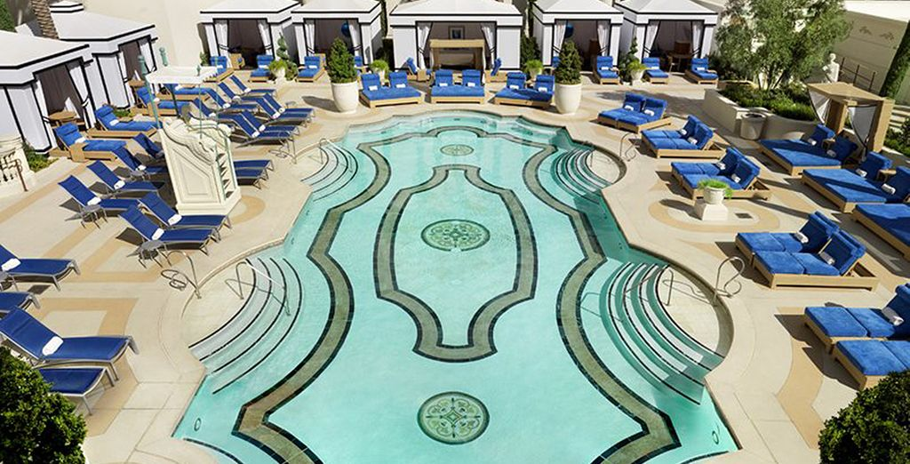 Swim in one of the outdoor pools