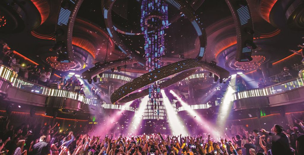 Experience the buzz of the on-site nightclub