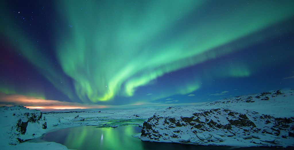 At your hotel you are able to ask for a wake up call to see the most amazing nature's lightship: Northern Lights