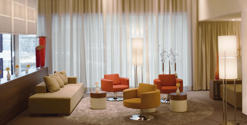 The elegant interiors welcome you