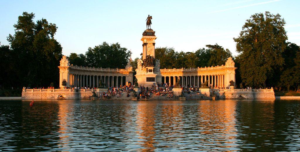 You can visit beautiful Buen Retiro Park