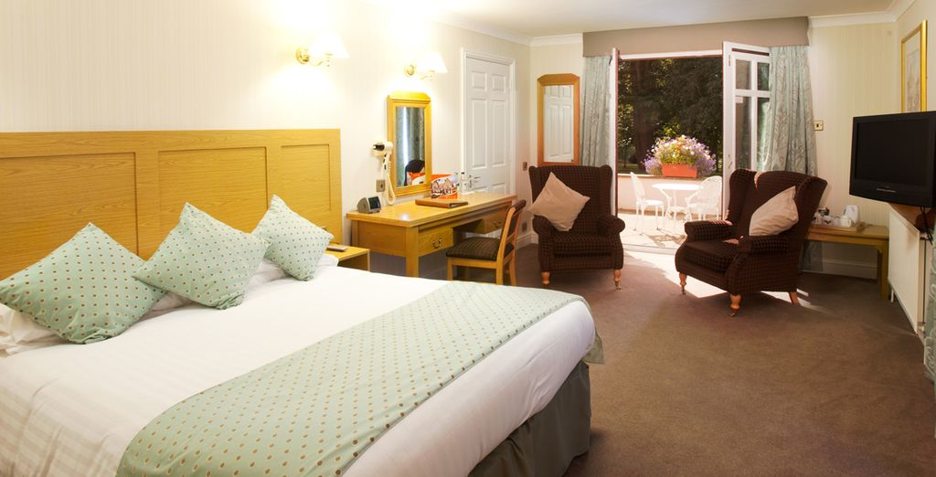 Or upgrade to a peaceful garden view room