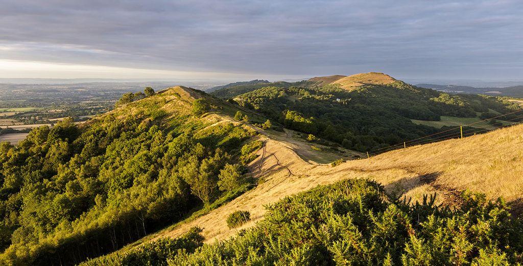 Near the stunning Malvern Hills