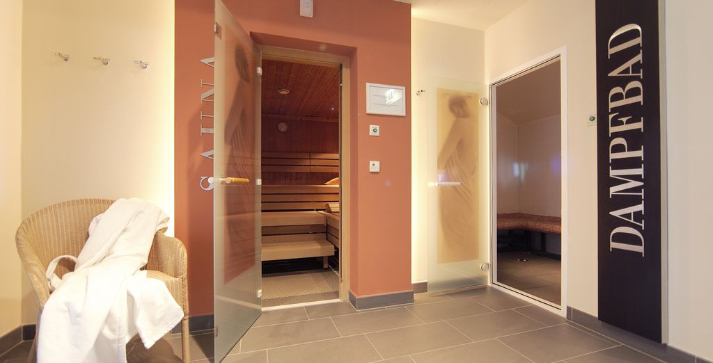 Relax in the hotel's sauna after sightseeing