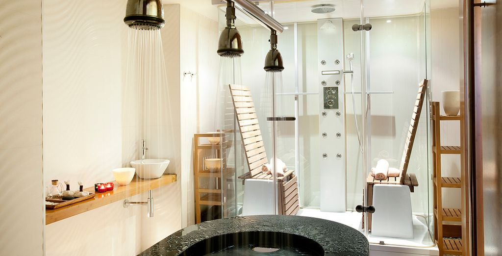 And the state of the art spa is perfect for some pampering!