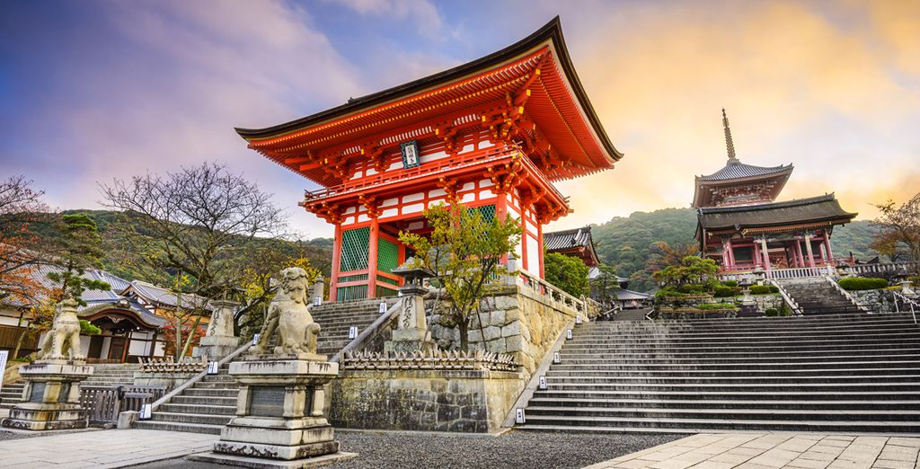 Where can marvel at spiritual gems such as Kiyomizu Temple