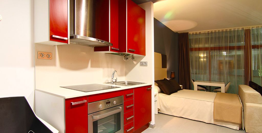 With a fully equipped kitchenette