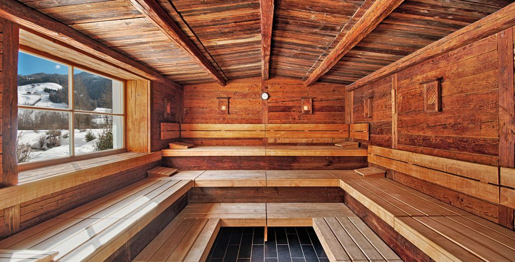 or the magnificent sauna!