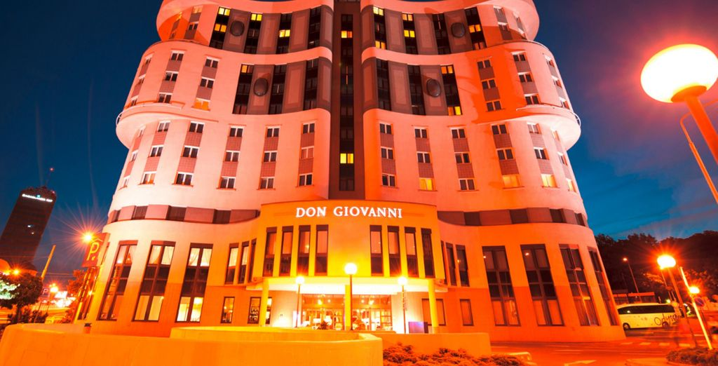 Step into the eye-catching Don Giovanni Hotel