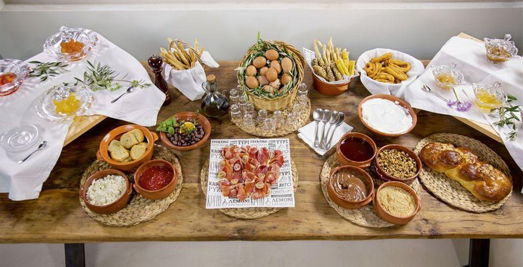 Fill up on delicious Mediterranean fare....