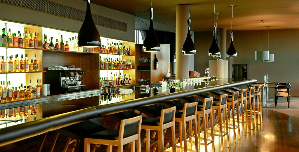 Head to the stylish bar on your return...