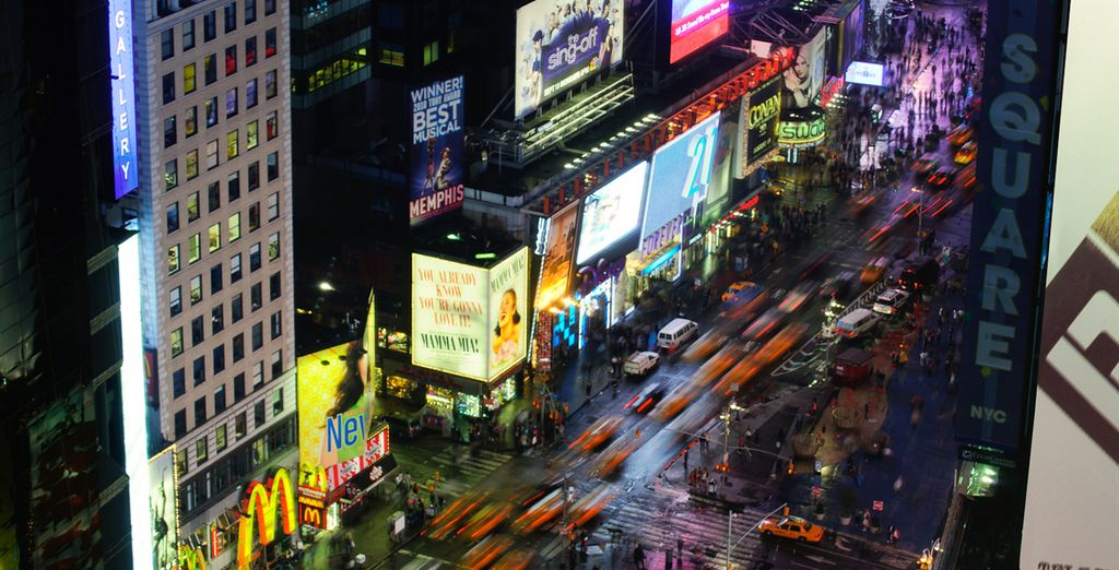 Stay in Times Square, the epicentre of the city