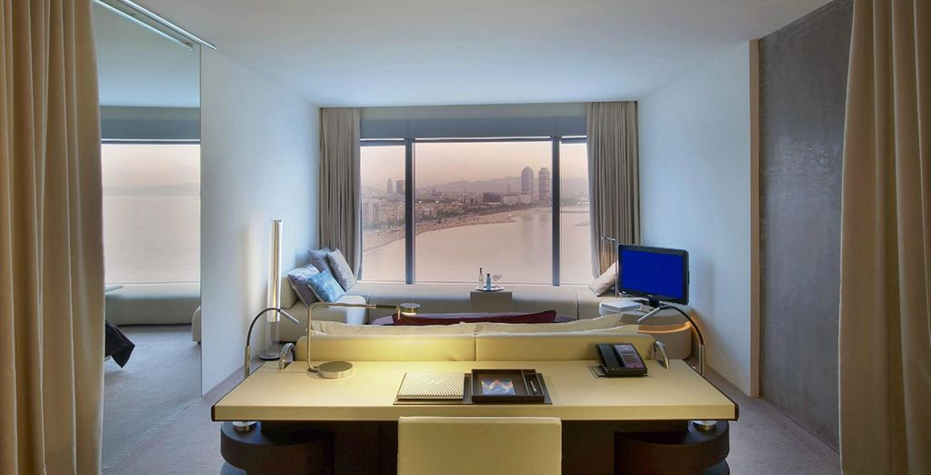 With sprawling views of the beach, city and sea