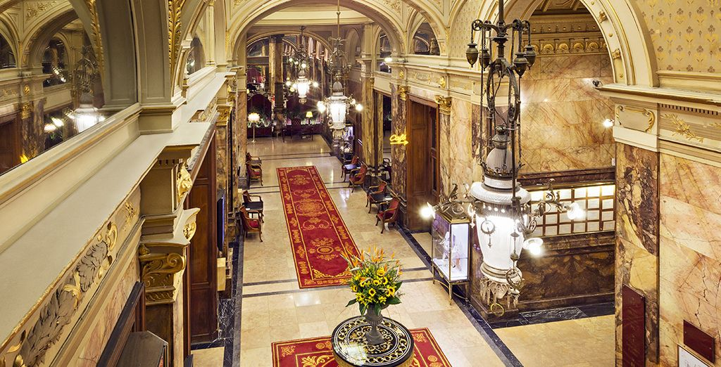 Step back in time when you enter this grand, palatial hotel