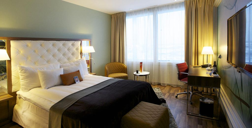 Stay in excellent hotels along the way (Clarion Arlanda Airport Hotel Stockholm)