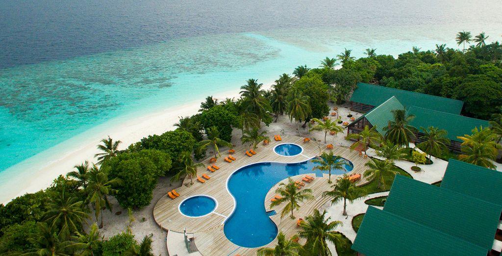 The Indian Ocean's pristine waters await at Furaveri Island Resort & Spa 5*