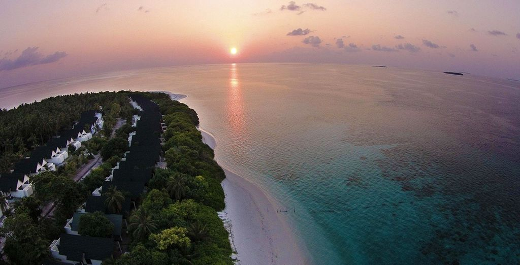 Watch the sunset in paradise