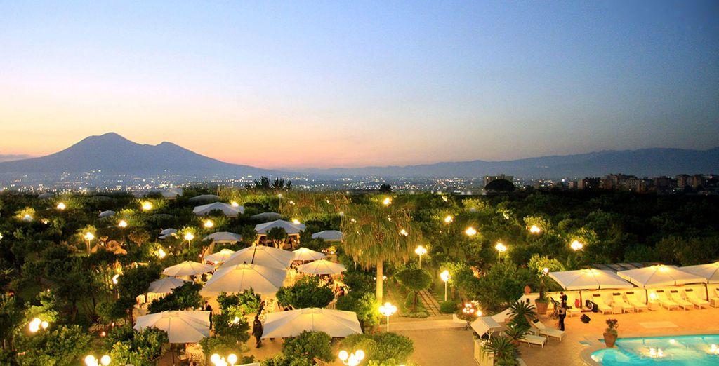 And admire views of Mount Vesuvius
