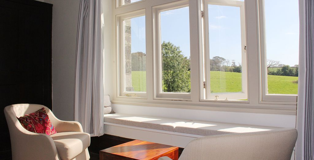 Which looks out onto lovely views over the surrounding countryside