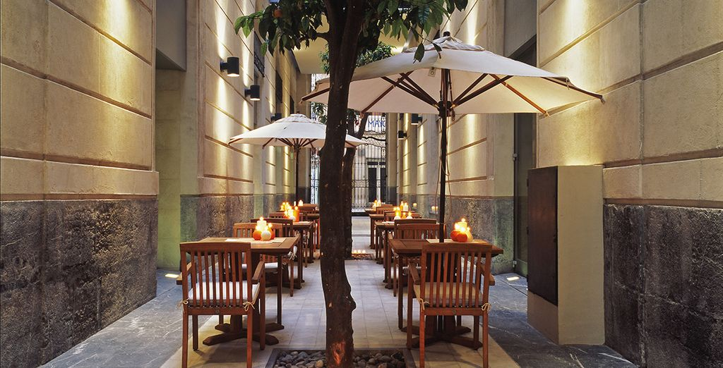 Dine on the terrace for a change of scene