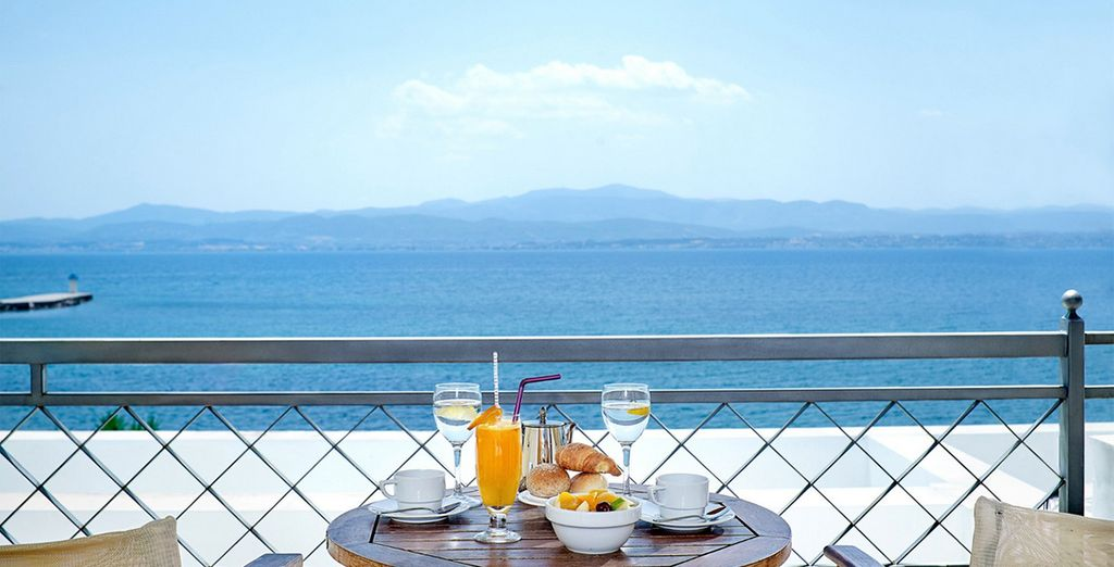 With stunning views from your balcony