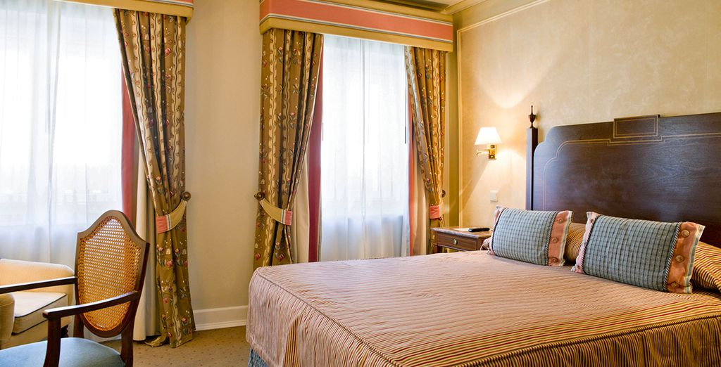 Sleep in a traditionally decorated Classic Room