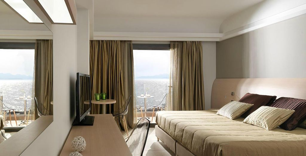 Where you can choose from a Superior Sea View Room