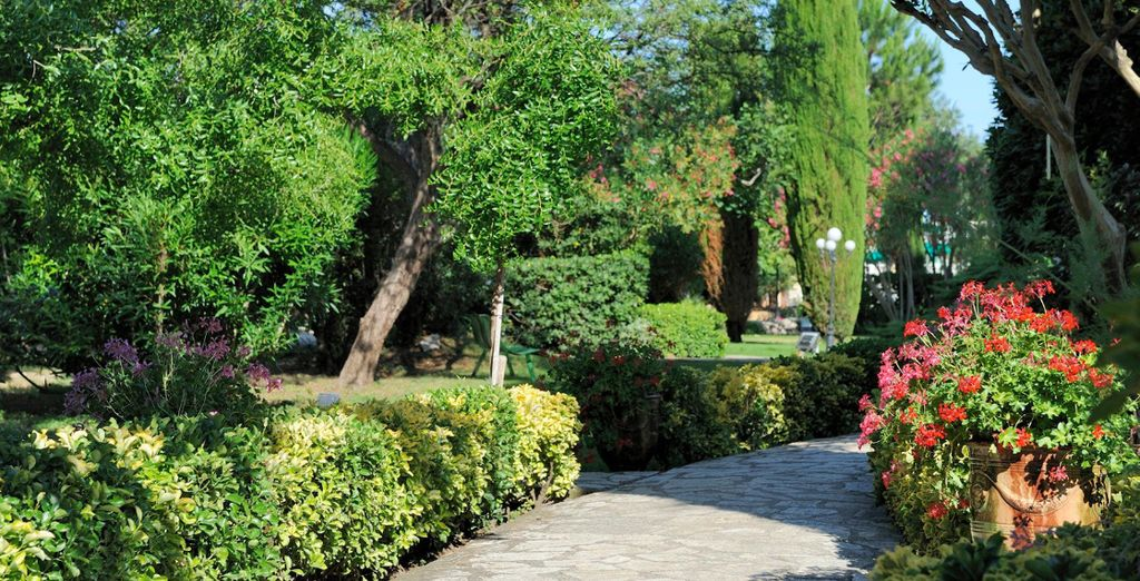 Wander through tranquil gardens