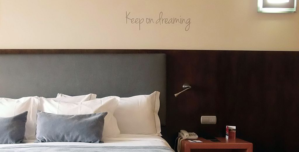 Make your way to your comfortable room