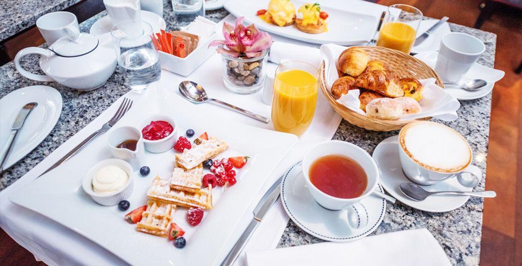 Start each day with a buffet breakfast