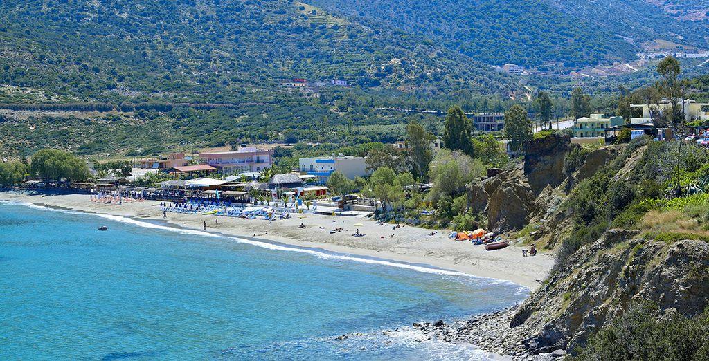 Take the shuttle bus down to the local village & beach