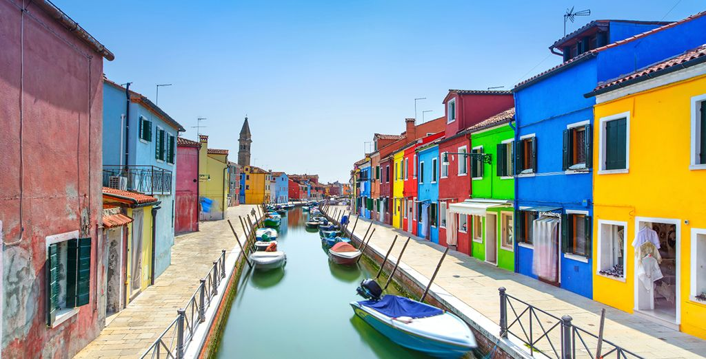 And of course there's the the colourful island of Murano