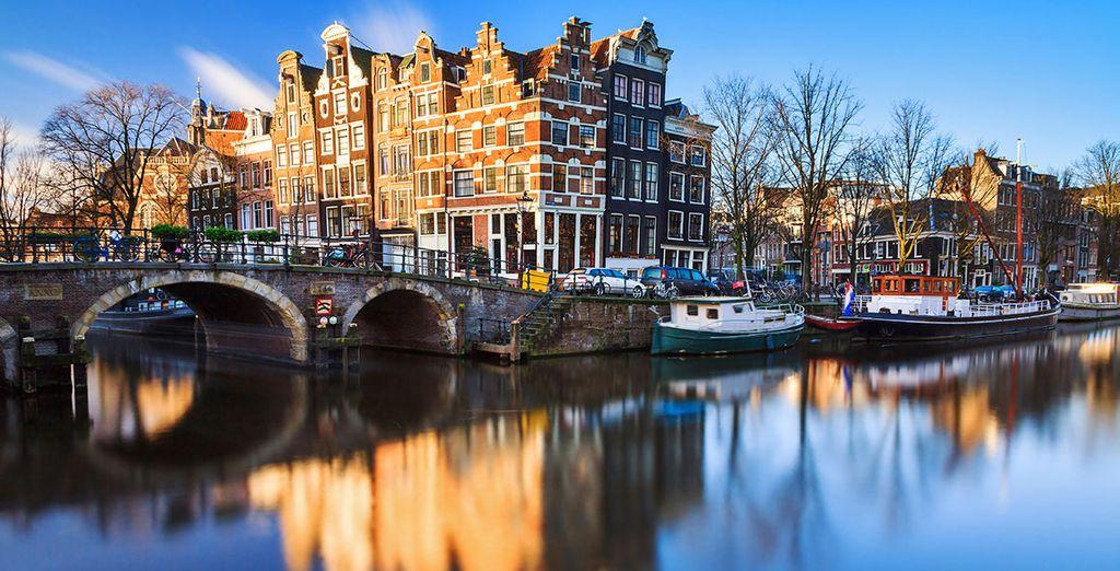 Get lost in Amsterdam's romantic atmosphere...
