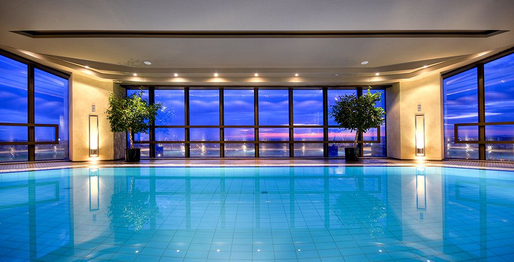 Look out to the views whilst plunging into the pool