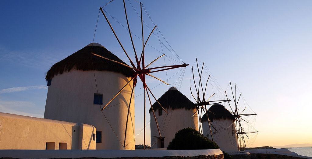 Don't miss a visit to the island's famous windmills too