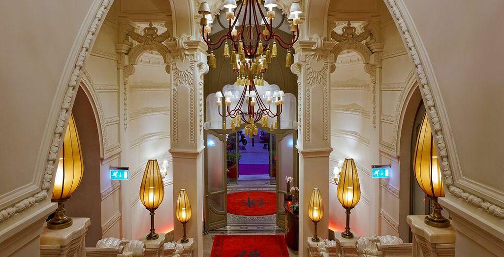 Where opulent interiors greet you