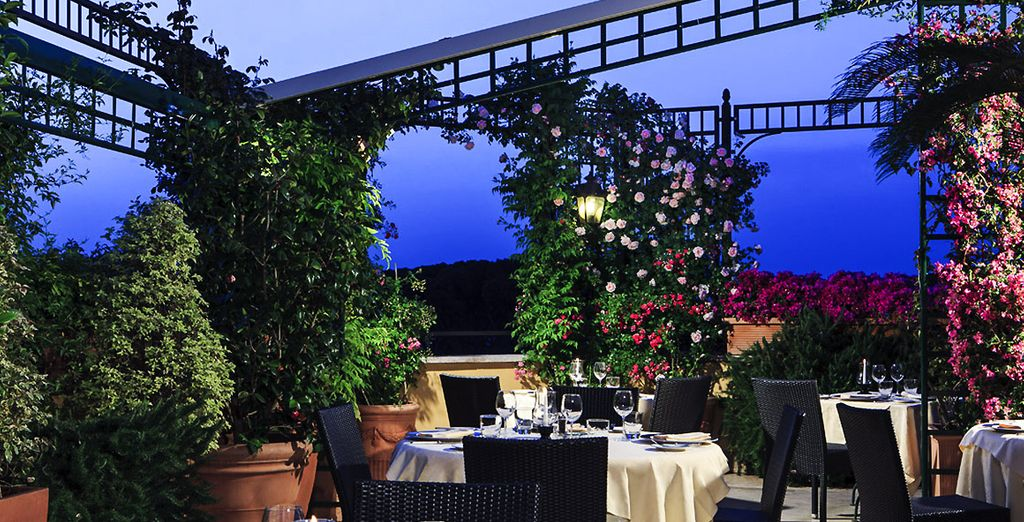 Treat yourself to rooftop romance in Rome...