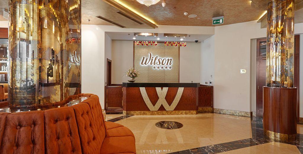 A stylish hotel