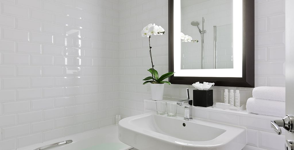 Your Superior Room comes complete with a sharply designed ensuite
