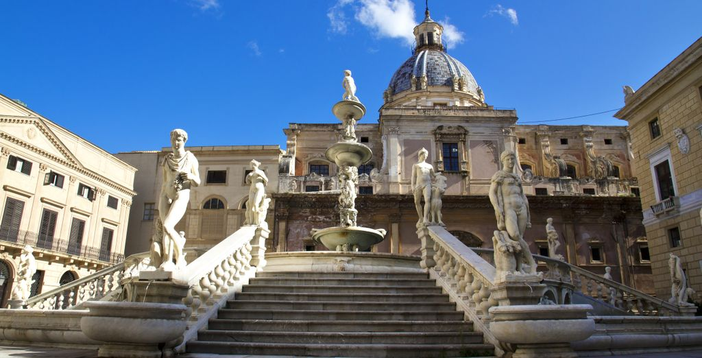 The culture of Palermo is just an hour's drive away