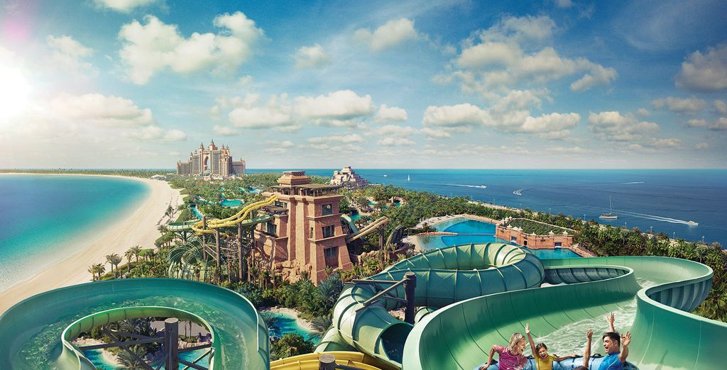 Enjoy a day in the Aquapark in Dubai, United Arab Emirates