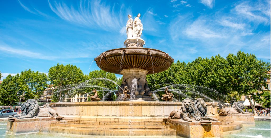 In the centre of the wonderful Aix-en-Provence... (The birthplace of Voyage Privé!)