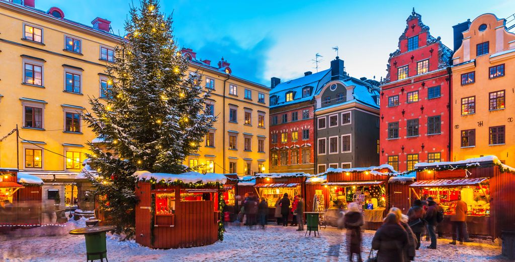 holidays in sweden : christmas market