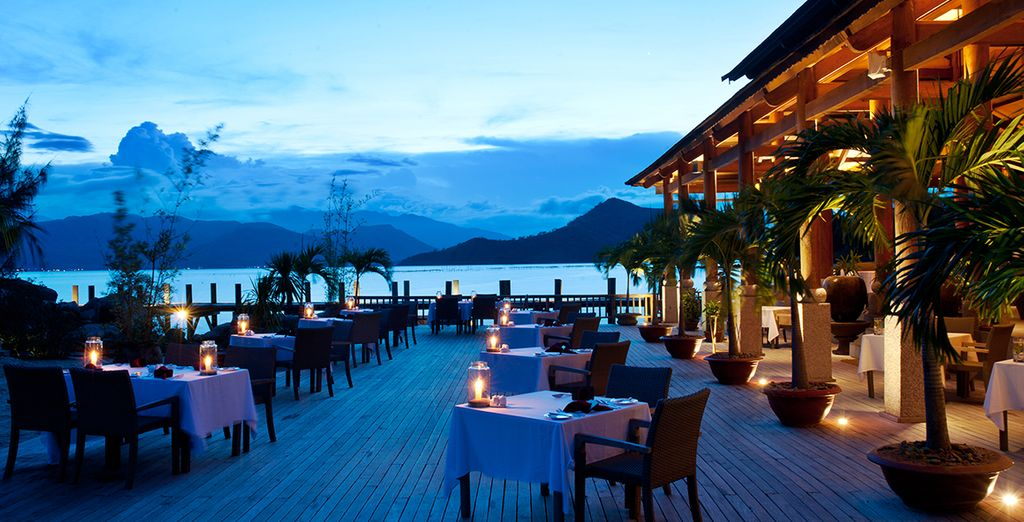 Or at the resort's stunning restaurant