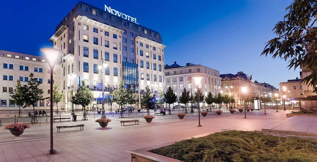 You'll be staying in comfortable 4* hotels throughout (pictured: Novotel Vilnius Centre)
